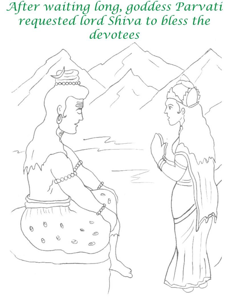 True devotee Story coloring page for kids 17