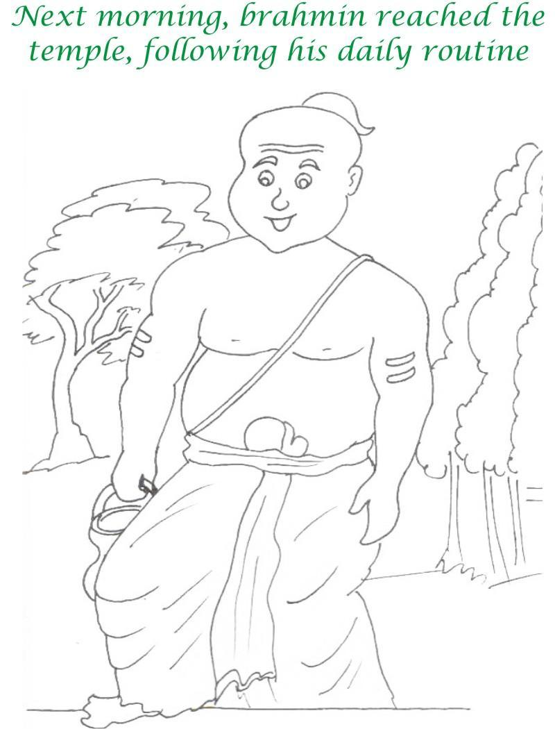 True devotee Story coloring page for kids 19