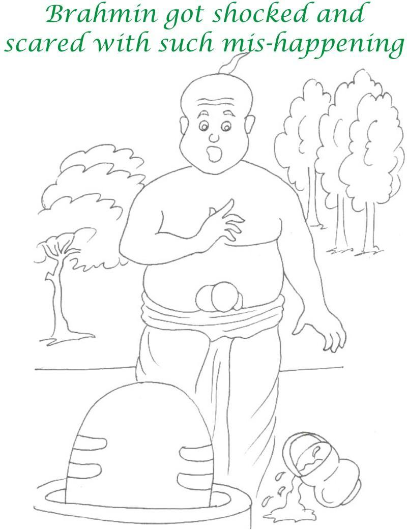 True devotee Story coloring page for kids 21