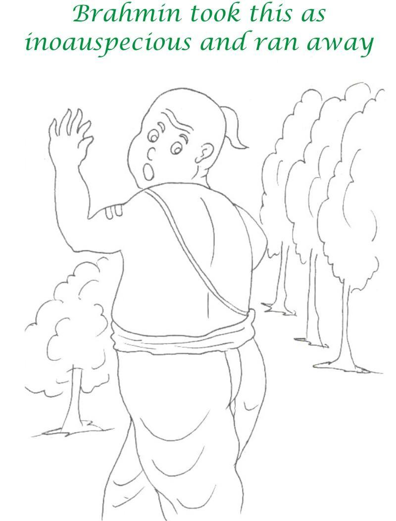 True devotee Story coloring page for kids 22