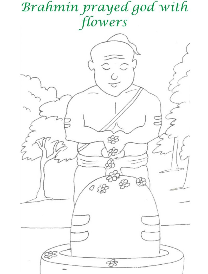 True devotee Story coloring page for kids 13
