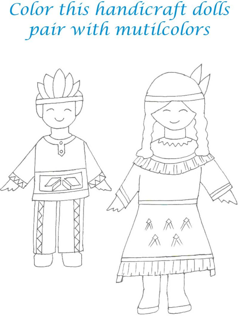 Dolls coloring printable page for kids 7