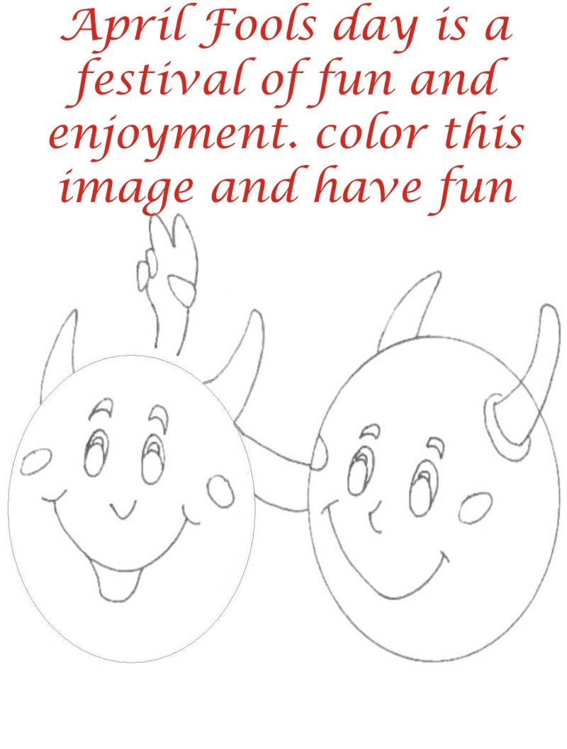 April fool coloring page for kids 8