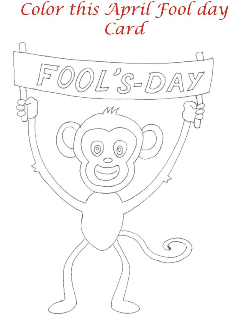 April fool coloring page for kids 5