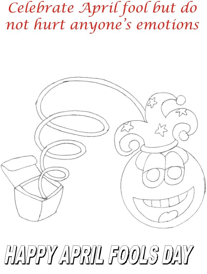 April fool coloring page for kids 4