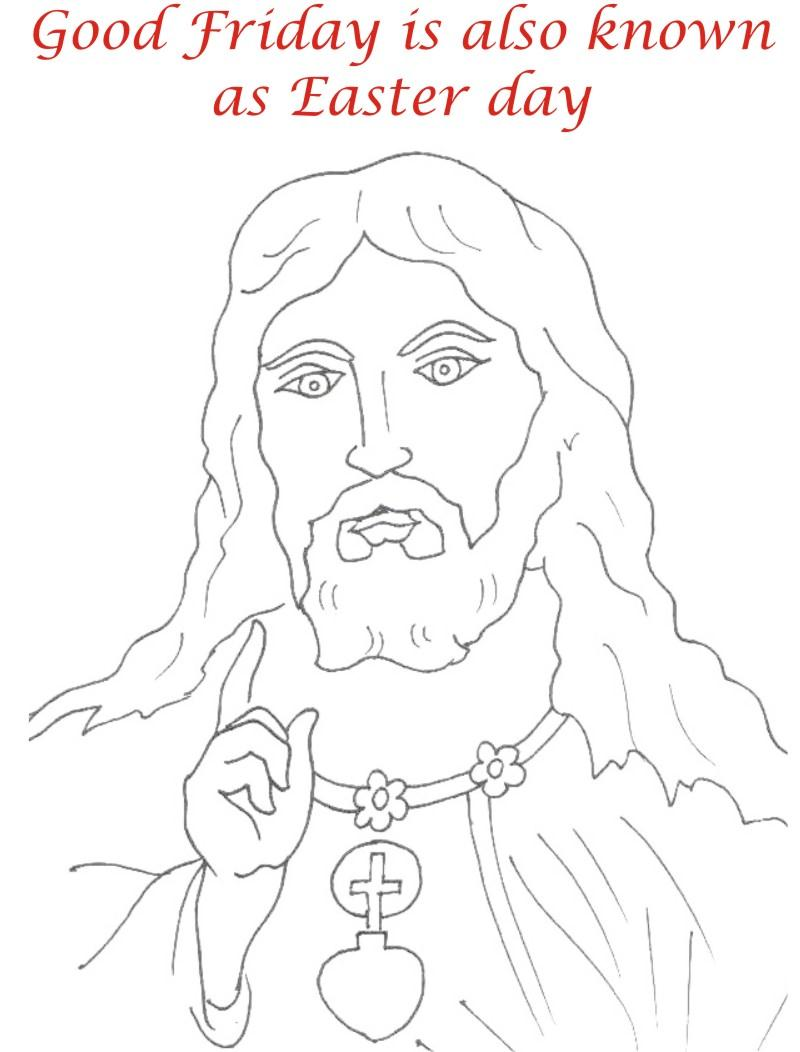 Good Friday coloring printable page for kids 10