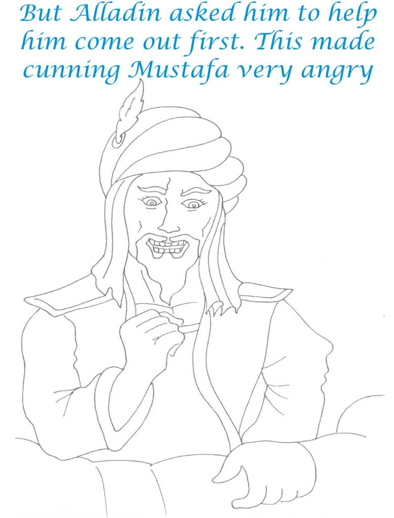 Alladin tales printable coloring page for kids 15