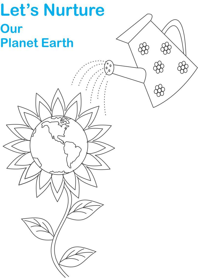 Earth Day Printable Coloring Page For Kids 3