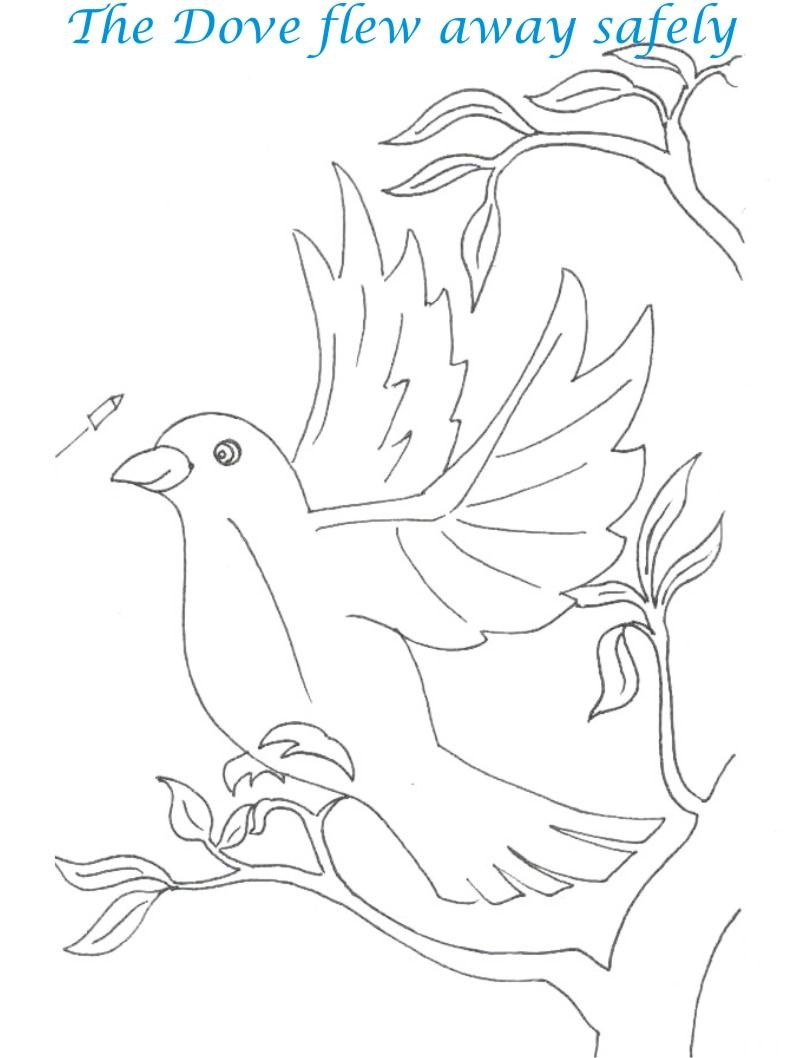Bee and Dove story coloring page for kids 21
