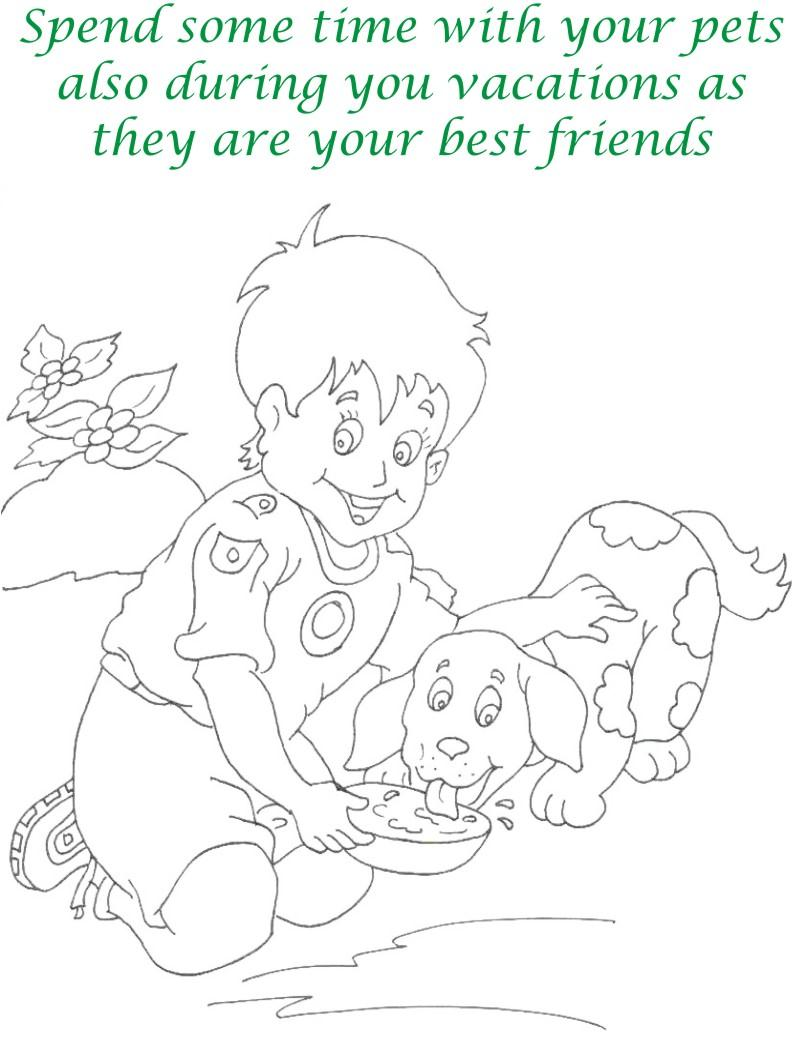Vacations days printable coloring page for kids 4