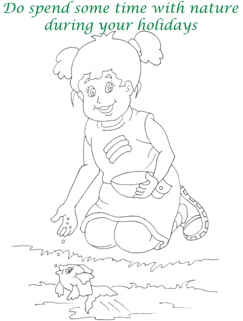 Vacations days printable coloring page for kids 6