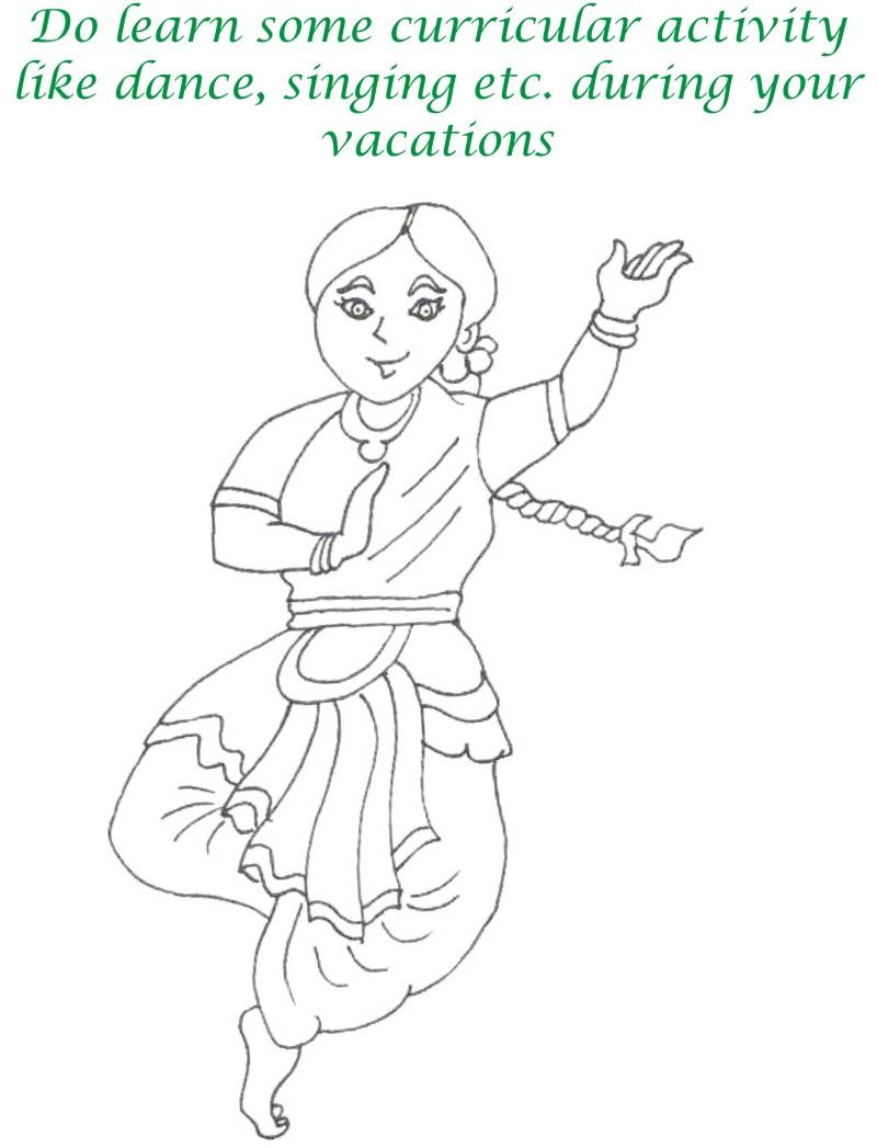 Vacations day printable coloring page for kids 8