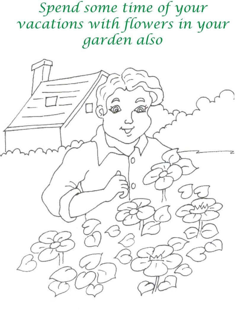 Vacations days printable coloring page for kids 22