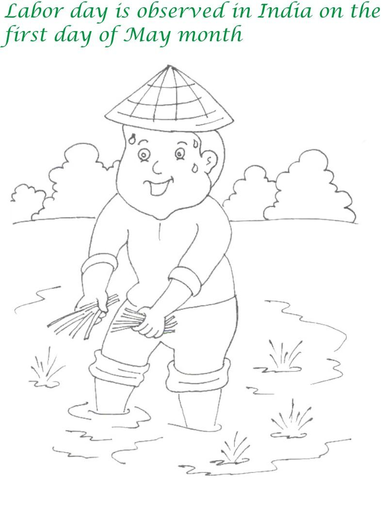 Labor Day printable coloring page for kids 2