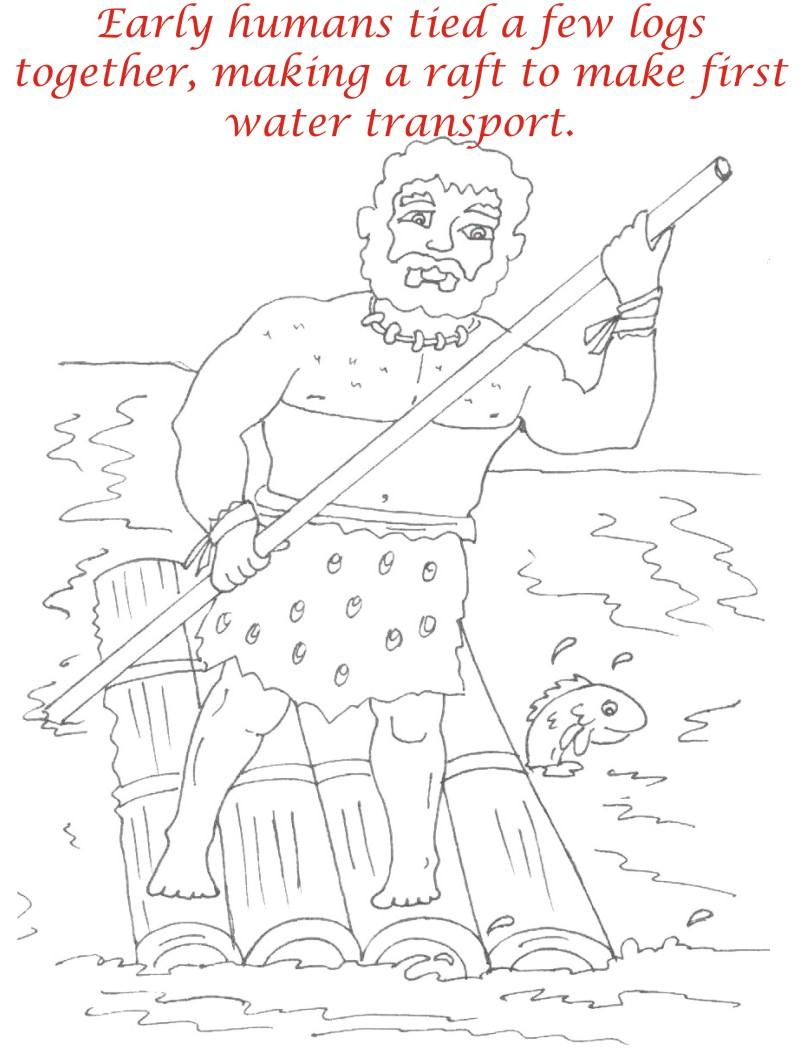 Early Humans printable coloring page for kids 6