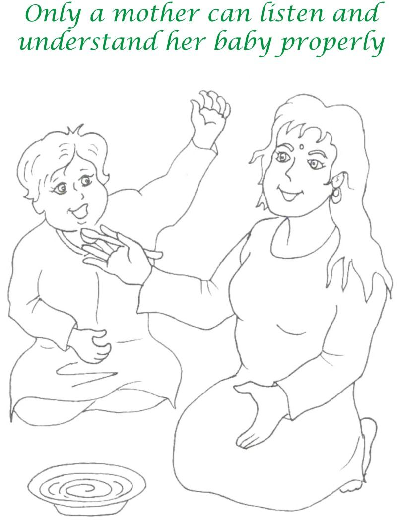 Mothers day printable coloring page for kids 2