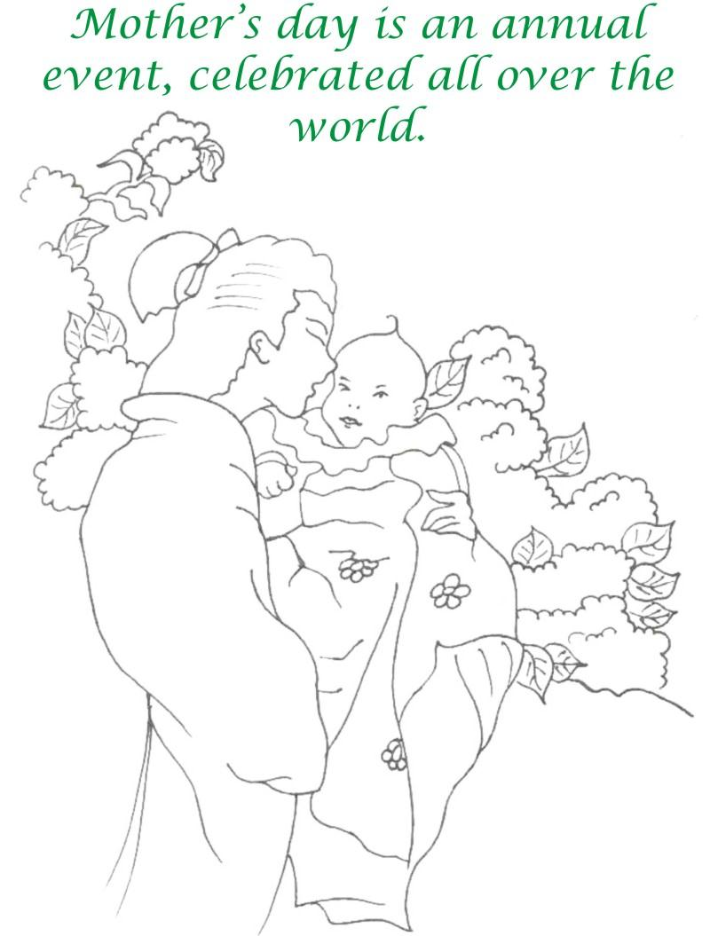 Mothers day printable coloring page for kids 15