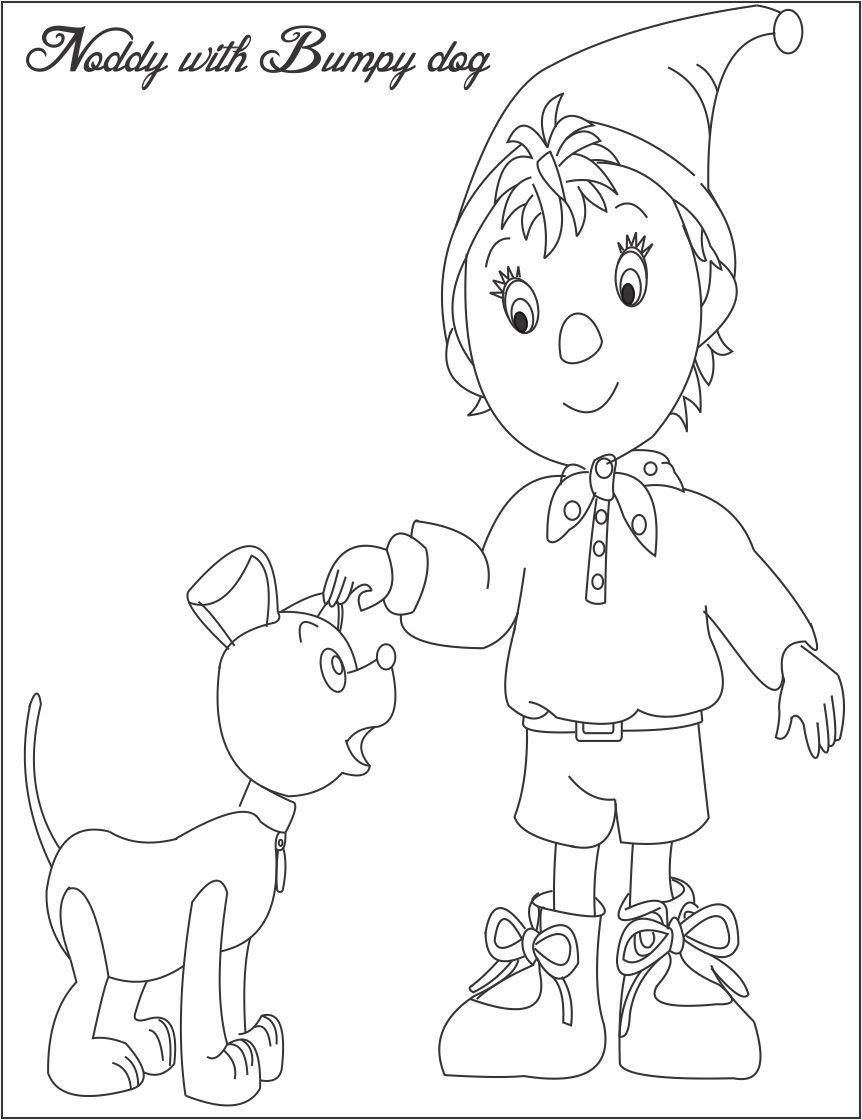 Bumpy Dog Printable Coloring Page For Kids