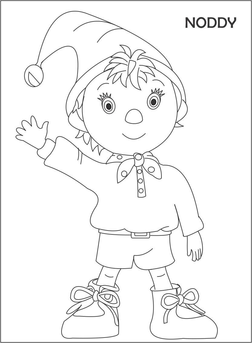 Noddy printable coloring page for kids 1