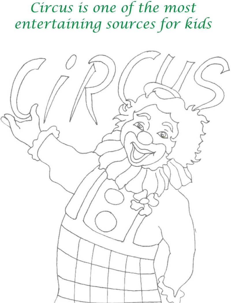 Circus printable coloring page for kids 1