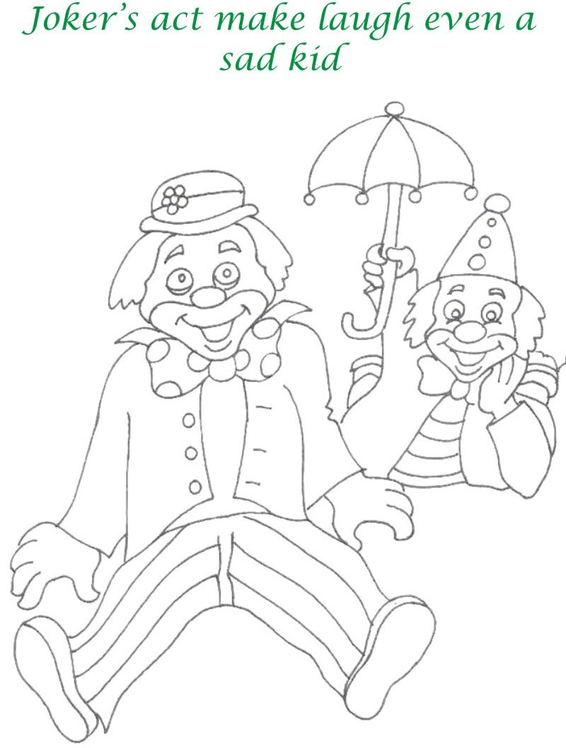 Circus printable coloring page for kids 16