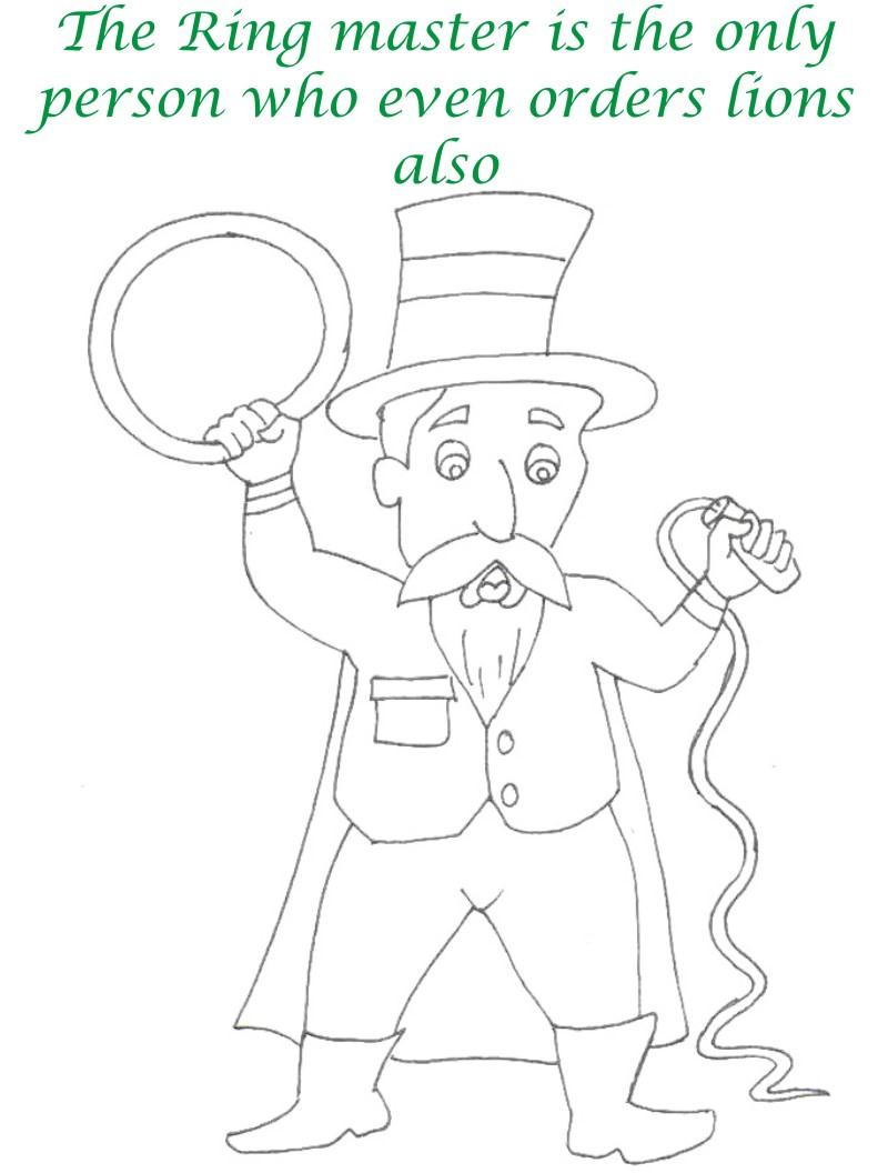 Circus printable coloring page for kids 21