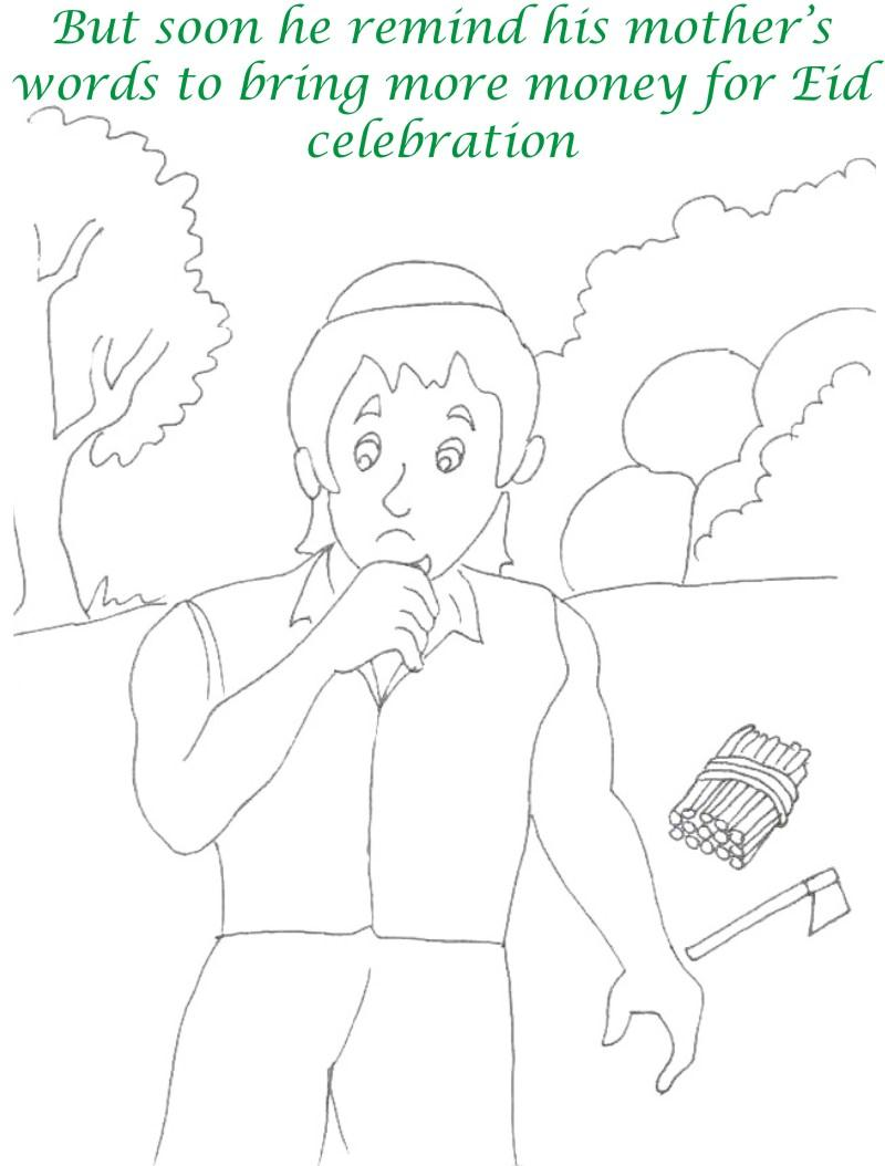 Alibaba story printable coloring page for kids 6