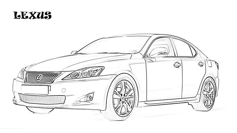 Exotic Cars Printable Coloring Page For Kids 1