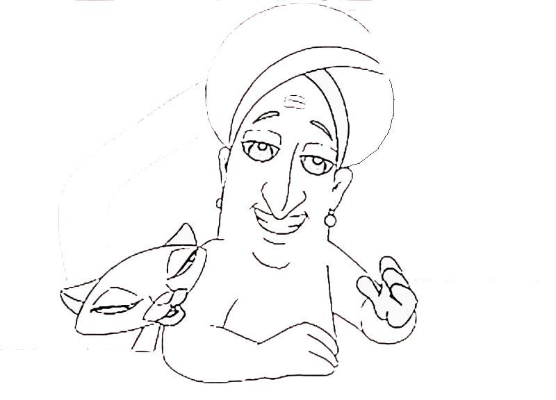 Tenali Raman printable coloring pages for kids 21