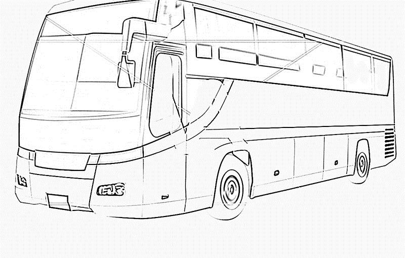 'Types Of Motor Vehicles' Printable Coloring Pages For Kids5