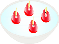 Floating candles designs