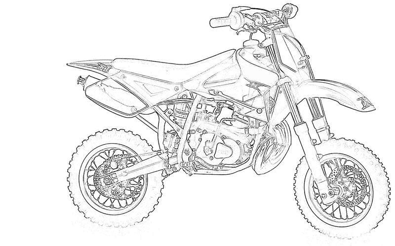 Motor Bikes printable coloring