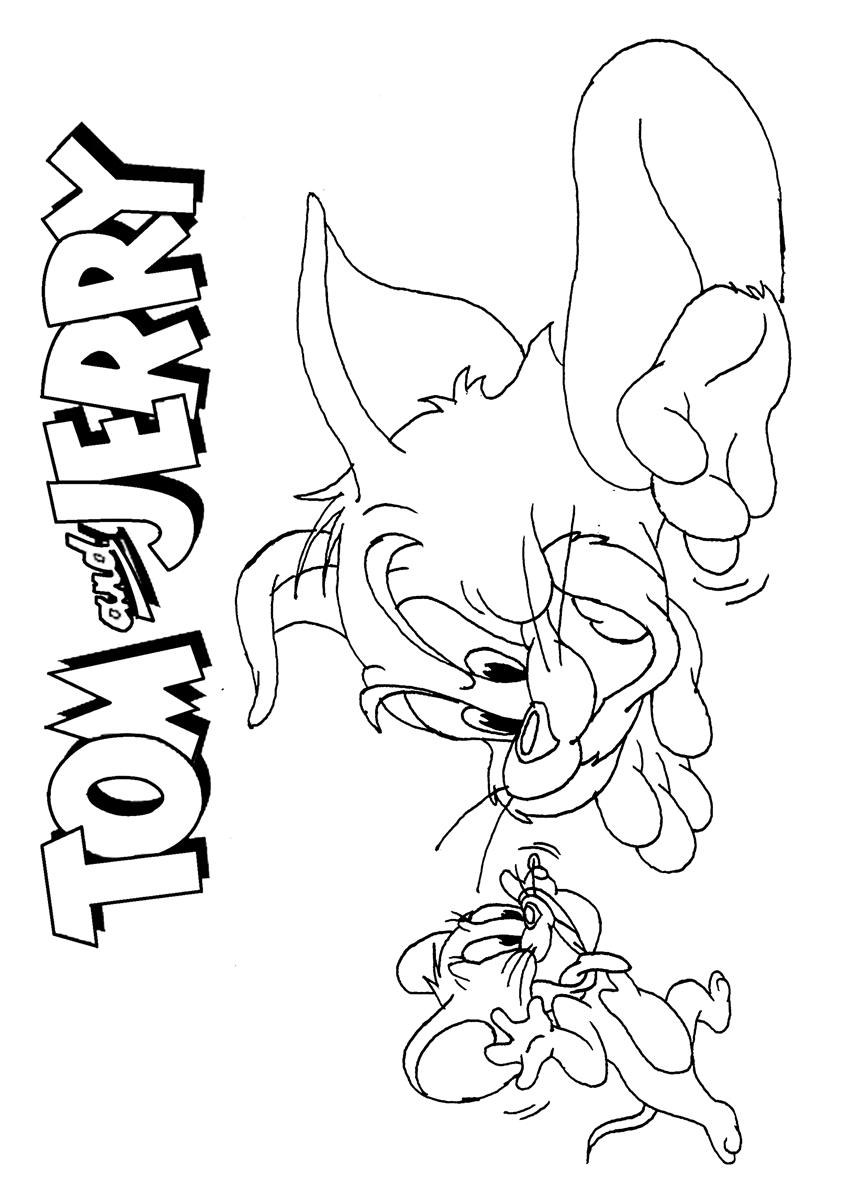 Tom And Jerry Coloring Page 17