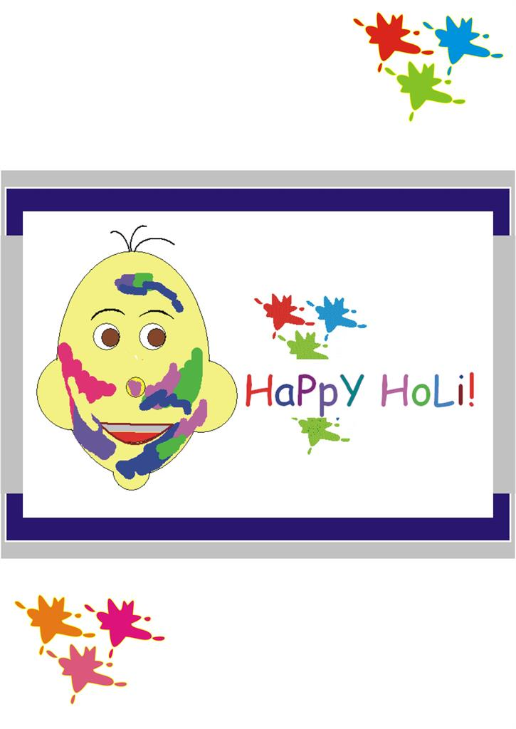 "The colorful festival - ""HOLI"" - Cover Page"