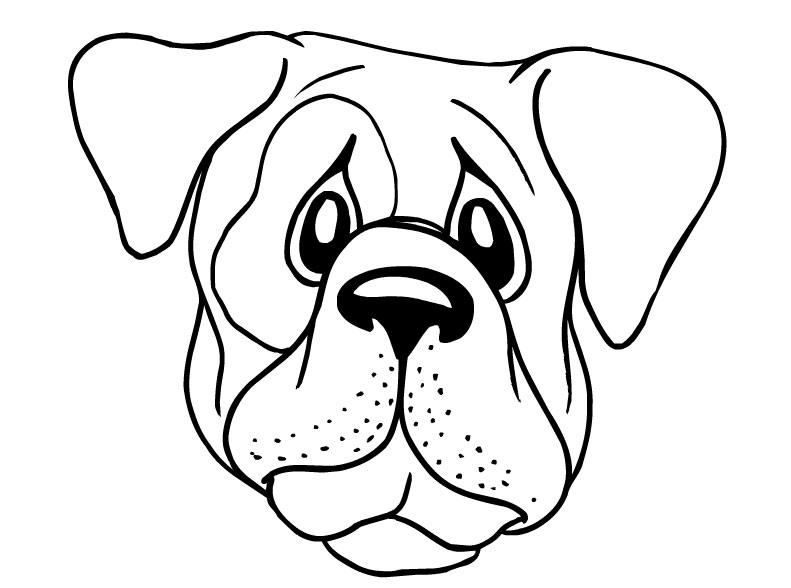 dog coloring pages pdf | Dog Face coloring page