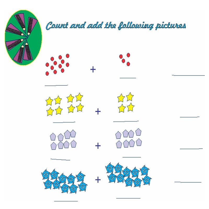 Count and add with pictures level 3