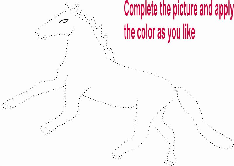 Horse Coloring Page for kid