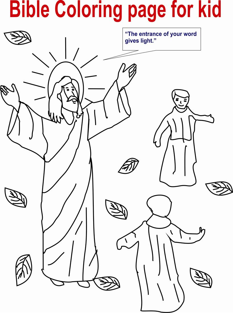 Bible Coloring Page for Kid