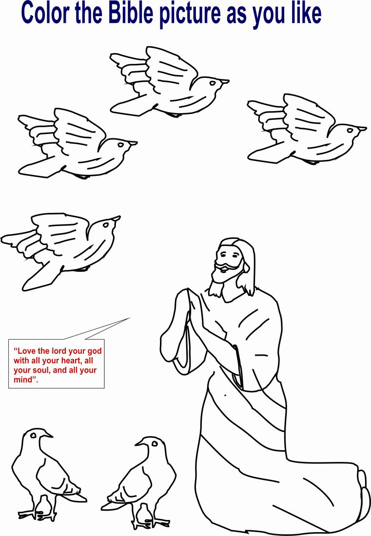 Lord Jesus coloring printable page for kids