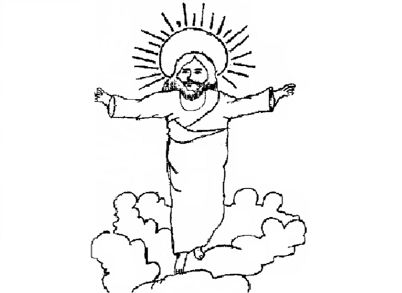 Printable coloring pages of Jesus Christ for small kids