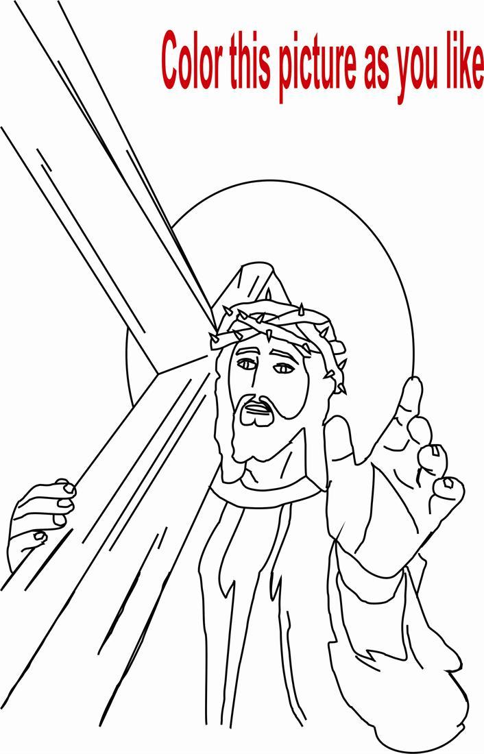 Jesus coloring page printable for kids