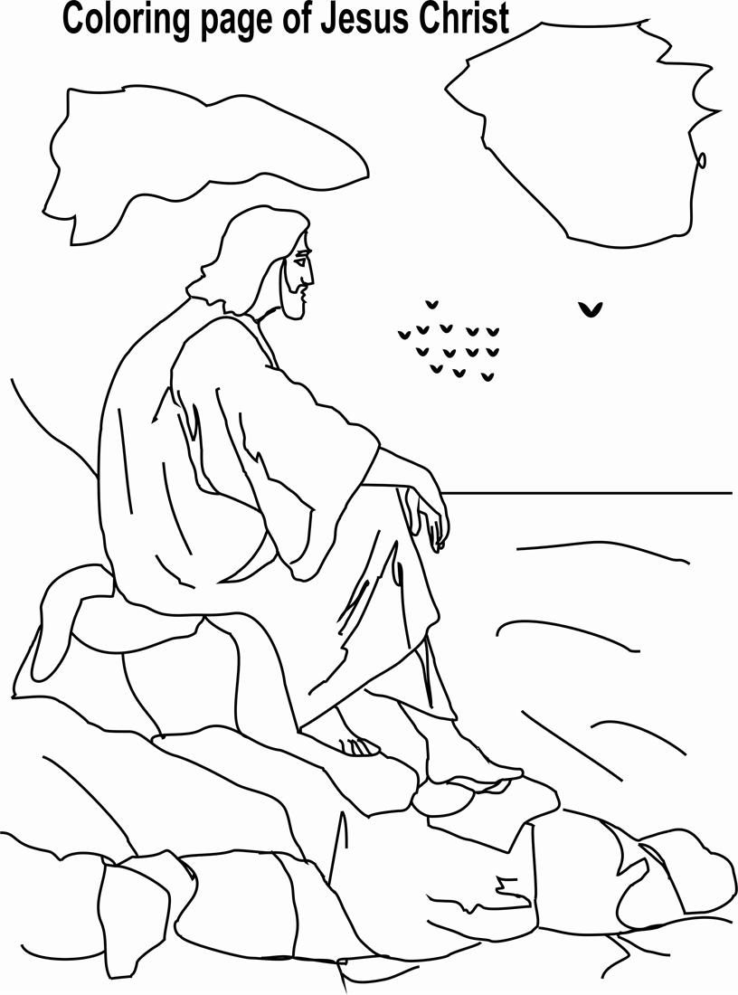 coloring pages of jesus life | Jesus Christ Coloring printable page 5 for kid