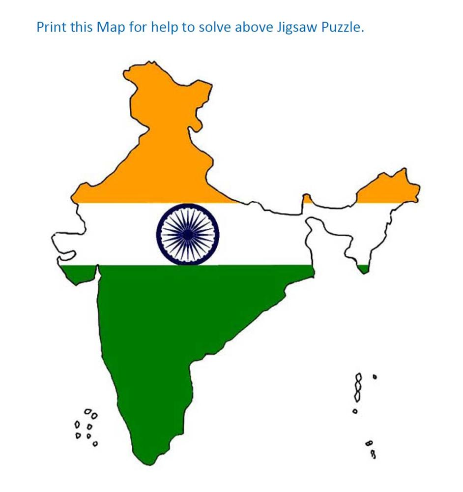Jigsaw Puzzle for India Map Answer