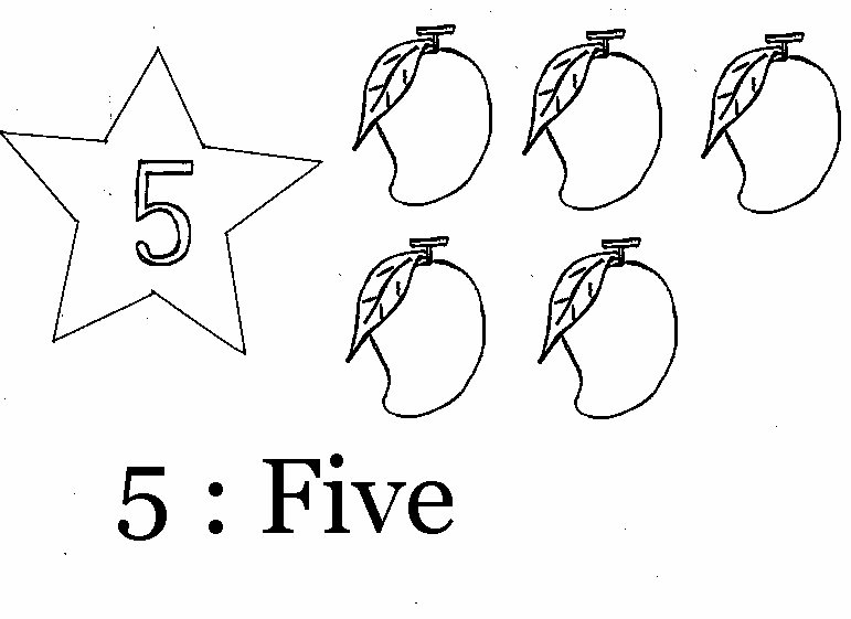 Coloring Page Of Number 5
