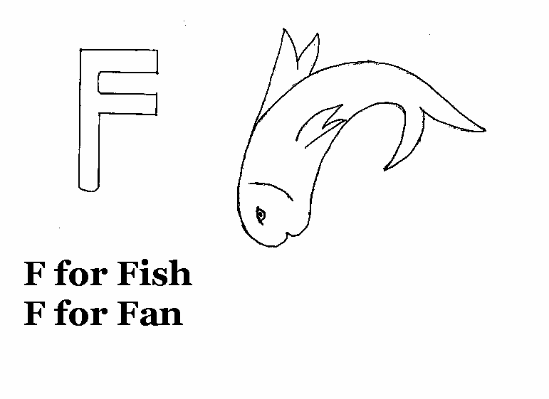 Alphabet - F coloring printable page for kids