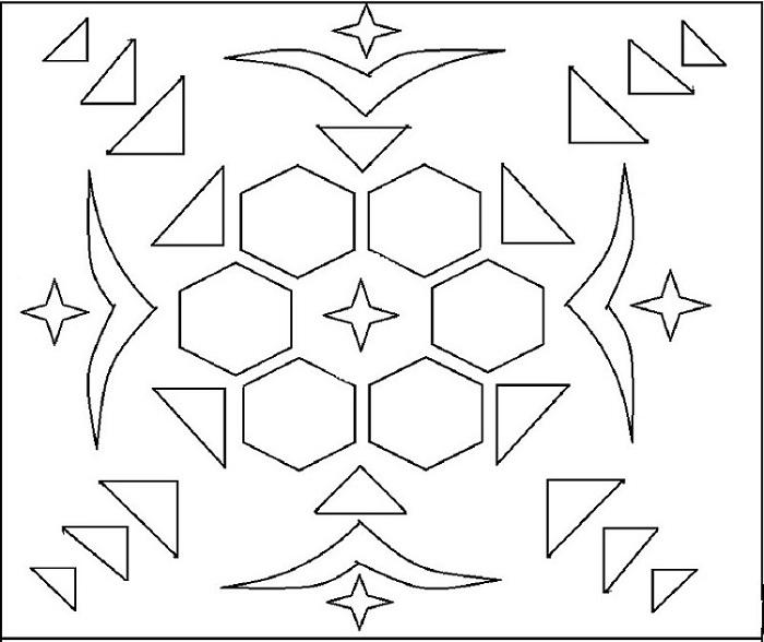 Rangoli coloring printable page 1 for kids Holi Pictures For Colouring
