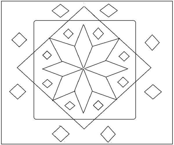 Rangoli Coloring Printable Page 7 For Kids