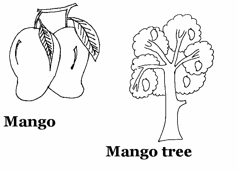 Mango printable coloring page for kids