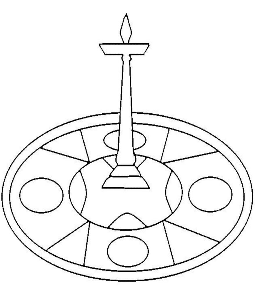 Onam Coloring Pages Pookalam Designs