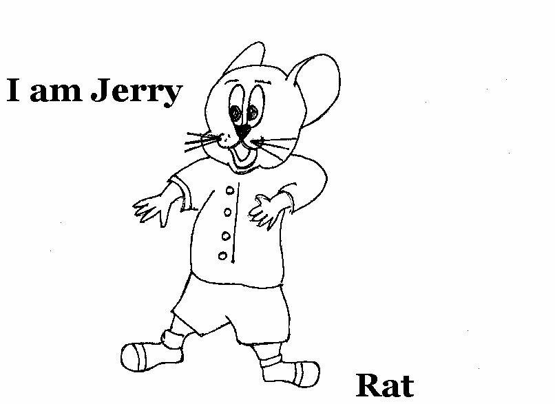 Rat coloring printable page for kids